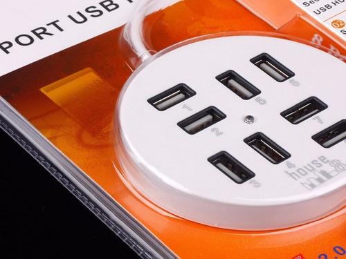 regleta portátil usb 2.0 de 8 puertos potente 480mbps