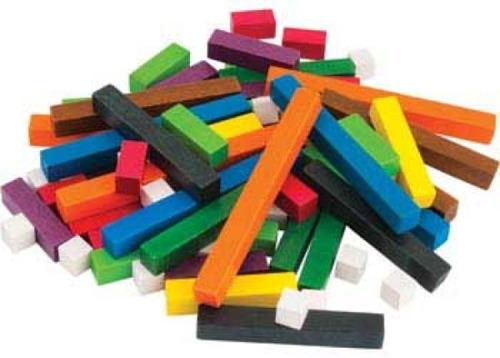 regletas escolar matemáticas cuisenaire de madera didáctico