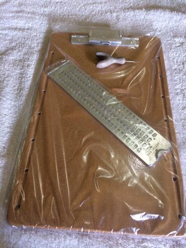reglete de mesa mais punsão mais 50 folhas escrever braille