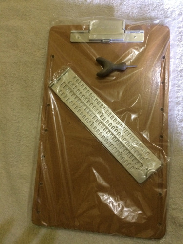 reglete tradicional de mesa escrever braille com punsão
