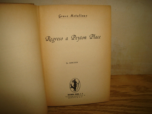 regreso a peyton place  - grace metalious