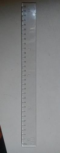 régua braille marcação centímetro a centímetro alto relevo