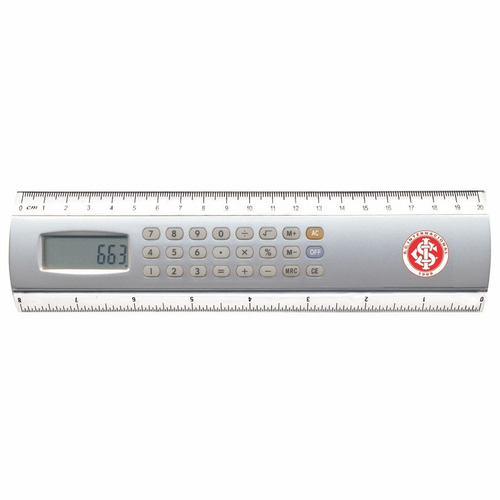 régua calculadora 20cm internacional
