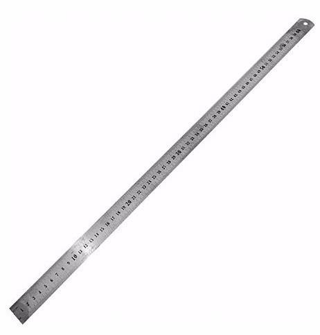 régua de 60cm 24 polegadas aço inox projetista profissional.