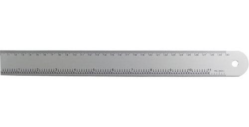 régua de alumínio anodizado 30cm tabela de conversão trident
