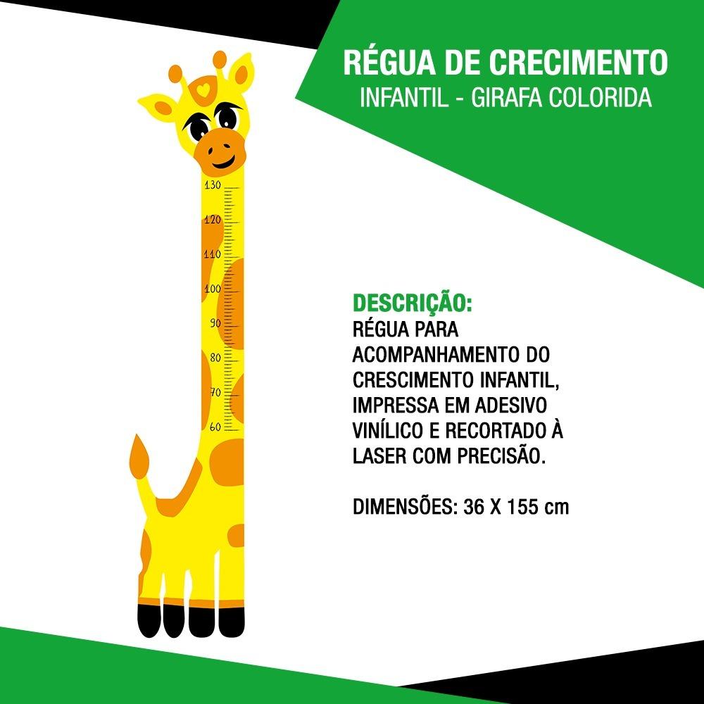 d8aa67764 régua de crescimento infantil - girafa colorida. Carregando zoom.
