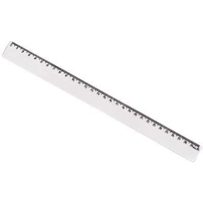 régua escolar plástica 30 cm transparente pacote com 10 unid