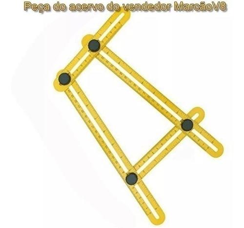 régua medidora ajustável, multi ângulos, angular, esquadro!