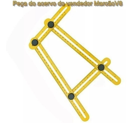 régua medidora ajustável, multi ângulos, angular. esquadro.