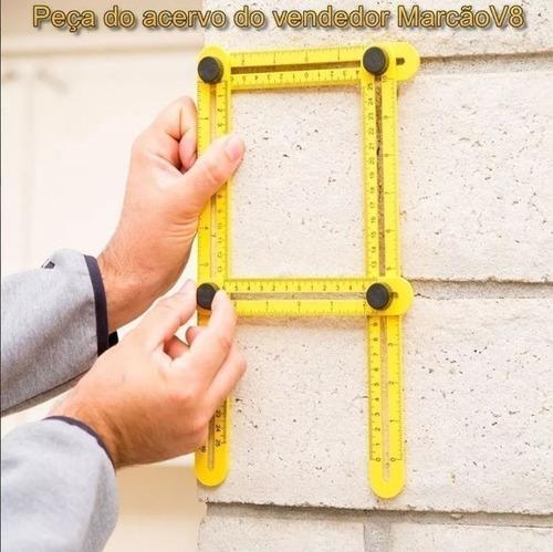 régua medidora ajustável, multi ângulos, angular, esquadro