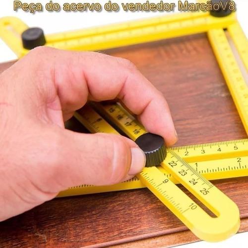 régua medidora ajustável multi ângulos angular esquadro