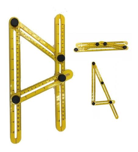 regua medidora esquadro multi angulo 5213 titanium
