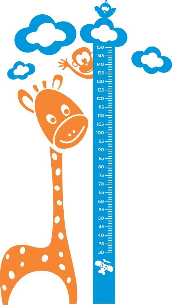 f51fb3d1d régua medir altura criança adesivo girafa personalizado me. Carregando zoom.