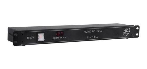 régua tomadas filtro de linha - 9t-6kd indicador digital nca