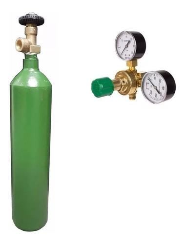 regulador alta baja + tubo nitrogeno 1/2 metro cubico envio