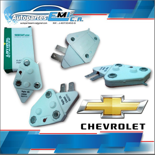 regulador alternador chevrolet universal caja pequeña