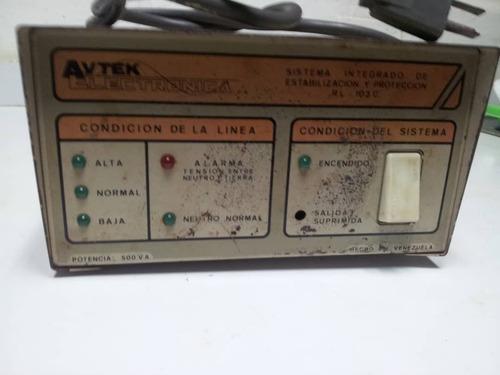 regulador avtek protector voltaje corriente 110v operativo