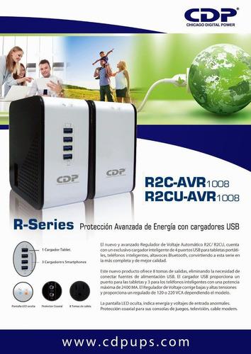 regulador cdp avr 1008 400w 1000va 8 contactos r2cu-avr1008