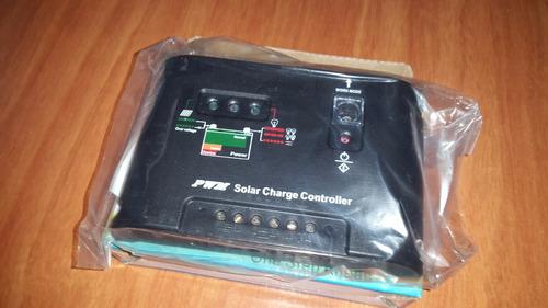 regulador controlador 10 ah panel solar  12/24 v dc calidad