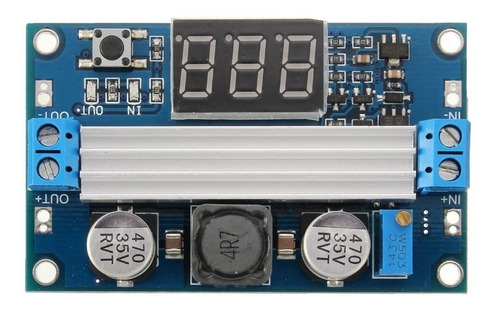 regulador dc-dc subida 3-35v a 3.5-35v con voltmetro,arduino