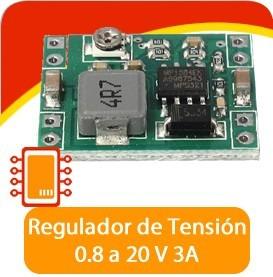 regulador de 0.8 a 20 v 3a, convertidor dc-dc, pic, arduino