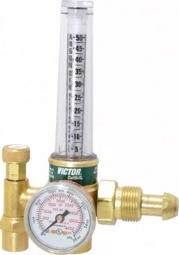 regulador de argon con manometro y flujometro victor