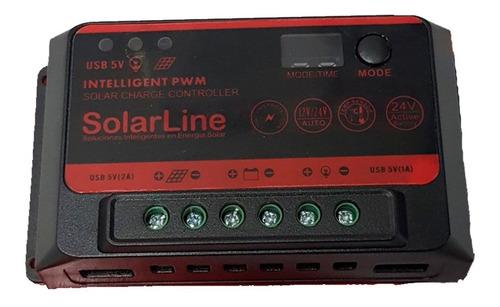 regulador de carga controlador tension 10a p/ panel solar