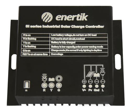 regulador de carga industrial solar 12v/24v 20a - enertik
