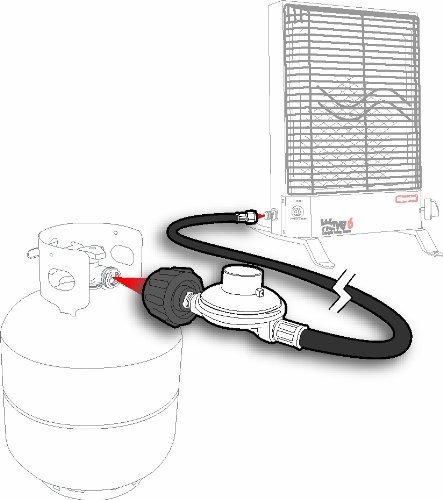 regulador de gas de baja presion camco con 6 mangueras 7000