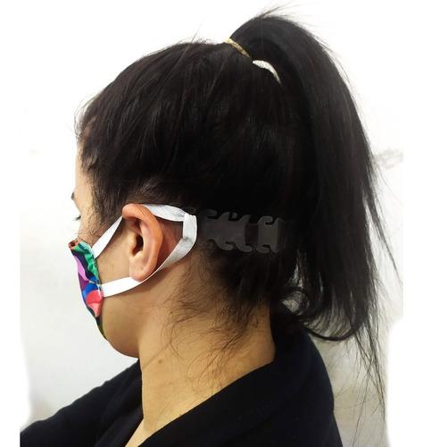 regulador de máscara cirúrgica transparente kit com 50 peças