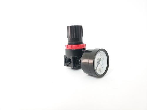 regulador de presion  aire neumaticas 1/4 c/ soporte rotake