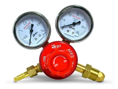 regulador de pressão acetileno rg150 brax