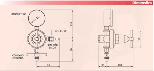 regulador de pressão glp, gás natural, famabras frg-13b