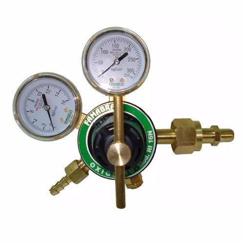 regulador de pressão para cilindro famabras ri-16 oxigenio