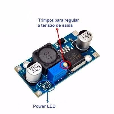 regulador de tensão step down buck dc-dc lm2596 3a
