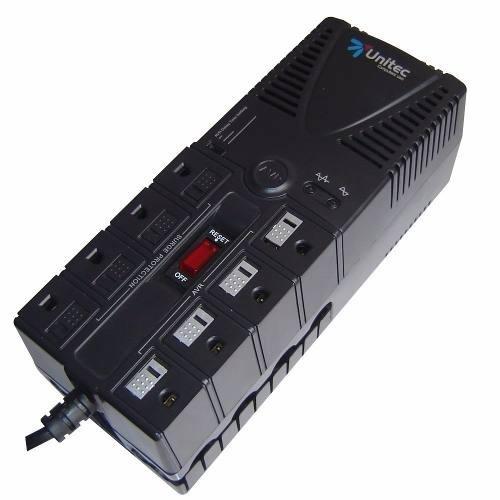 regulador de voltage unitec 1200w 8 tomas en. Black Bedroom Furniture Sets. Home Design Ideas