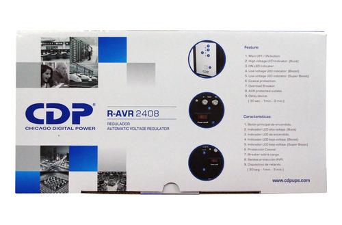 regulador de voltaje 2400 va 1800 w 8 tomas cdp r-avr2408