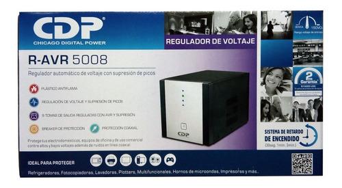 regulador de voltaje 5000 va 2500 w 8 tomas cdp r-avr5008