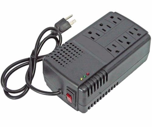 regulador de voltaje 6 tomas 110v