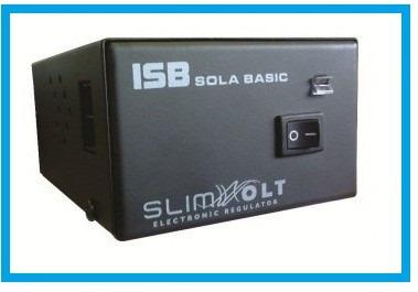 regulador de voltaje 700w sola basic slimvolt 4 contactos