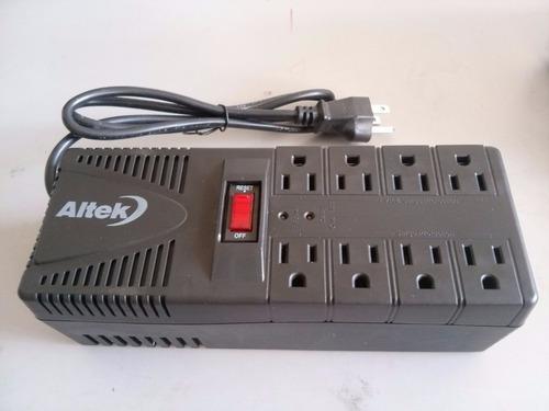 regulador de voltaje altek 1600w 8 tomas !nuevos!
