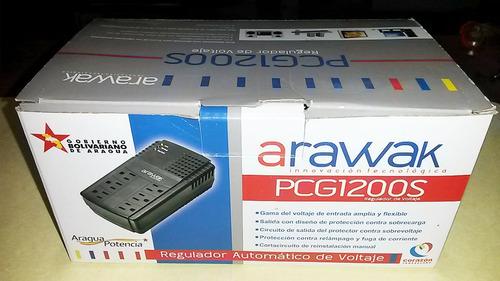 regulador de voltaje arawak pcg1200s de 6 tomas y 1200va