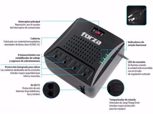 regulador de voltaje automático 3000va1500w con 4-salidas