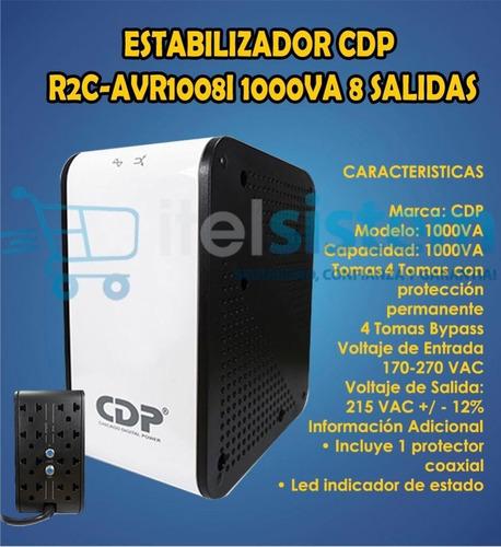 regulador de voltaje cdp r2cavr-1008i 8tomas 120v itelsistem
