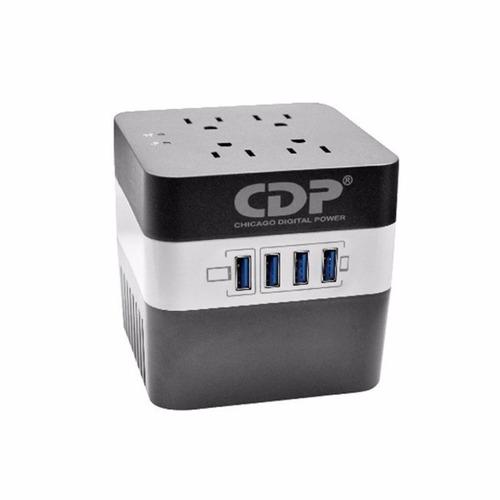 regulador de voltaje cdp ru-avr604i, 600va, 170-270 vac.