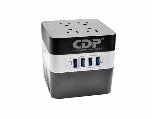 regulador de voltaje cdp ru-avr604i, 600va, 170-270 vac