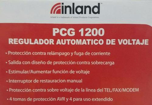 regulador de voltaje de 8 tomas inland pcg1200