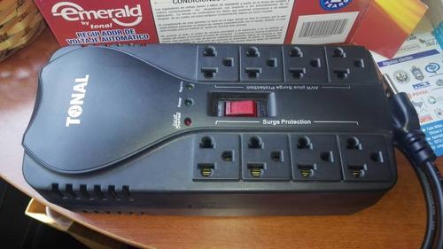 regulador de voltaje emerald rtl-1500 8 tomas corriente