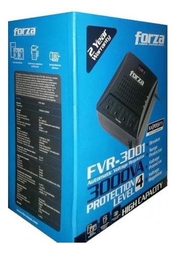 regulador de voltaje forza de 3000va/1500w fvr-3001