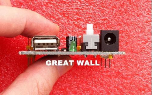 regulador de voltaje input 5v-12v, out 5v y 3.3v dc arduino